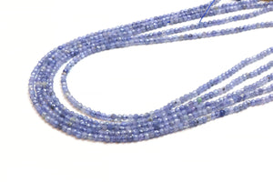 "3mm Natural Tanzanite Round Beads Faceted Loose Gemstone 16"" Strand DIY Supply"
