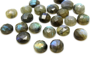 8mm Natural Labradorite Gemstone AA Quality Round Cabochon Wholesale DIY Making