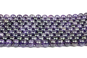 Custom Cut Amethyst Loose Beads Precious Jewelry Round Natural Smooth Gemstone