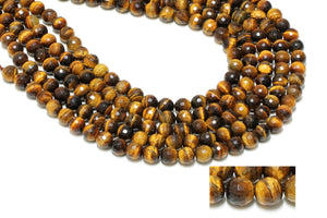 3mm Tiger Eye Beads Natural Faceted Loose Gemstone Jewelry Supply Wholesale