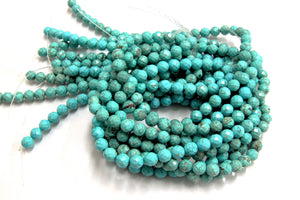 8mm Turquoise Magnesite Natural Round Faceted Beads Gemstone Bulk Jewelry Making