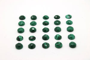 Loose AA Malachite Round Cabochon Natural Gemstone Green Bulk Sale Jewelry Stone