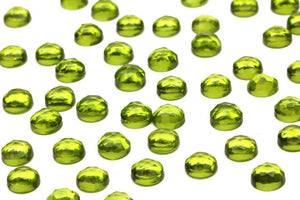 Peridot Gemstone Lab Created Round 6mm Loose Faceted Cabochon DIY Jewelry Supply