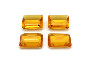 Citrine Emerald Cut Natural Loose Gemstone Rectangle Bulk Gem Faceted Cushion