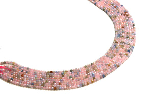 Natural 3mm Morganite Beads Round Loose Faceted Gemstone DIY Jewelry Supplies