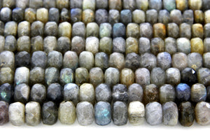 5x8mm Natural Labradorite Faceted Rondelle Gemstone Loose Spacer Beads Bulk Sale
