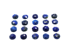 Natural Lapis Lazuli September Birthstone Loose Faceted Cabochon Round Gemstone