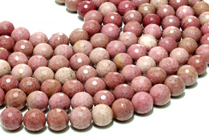 AA Quality Rhodonite Beads Round Loose Natural Gemstone Wholesale Jewelry Making