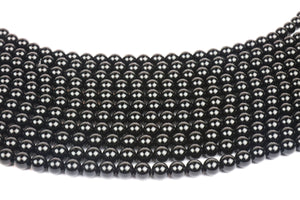10mm Natural Onyx Beads Black Smooth Round DIY Jewelry Gemstone Beading Supplies