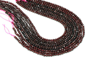 10mm Natural Round Garnet Faceted Loose Spacer Bulk Gemstone Beads DIY Jewelry