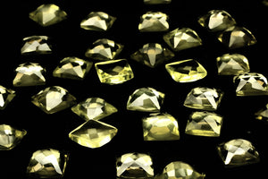 Lemon Quartz Gemstone 4mm Square Faceted Cabachon Loose Jewelry Making Wholesale