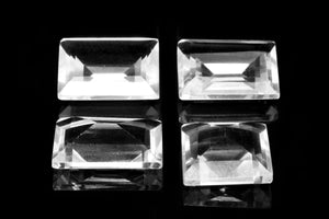 Natural Top Quality Rectangle Crystal Quartz Loose Bulk Faceted Clear Gemstone