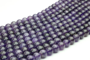 Natural Stone 4mm Smooth Gem Round Amethyst Beads Loose Jewelry Making Gemstone
