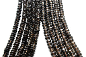 Natural Smoky Quartz Rondelle Gemstone Loose Spacer Beads Wholesale DIY Jewelry