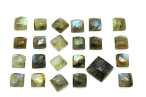 6x6mm Natural Square Labradorite Wholesale Stone Faceted Cabochon Loose Gemstone
