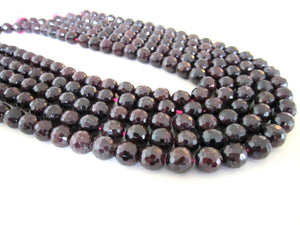 6mm Natural Red Garnet Beads Round Loose Faceted Gemstone DIY Jewelry Bulk Sale