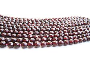 12mm Natural Round Red Garnet Beads Gemstone January Birthstone Jewelry Making