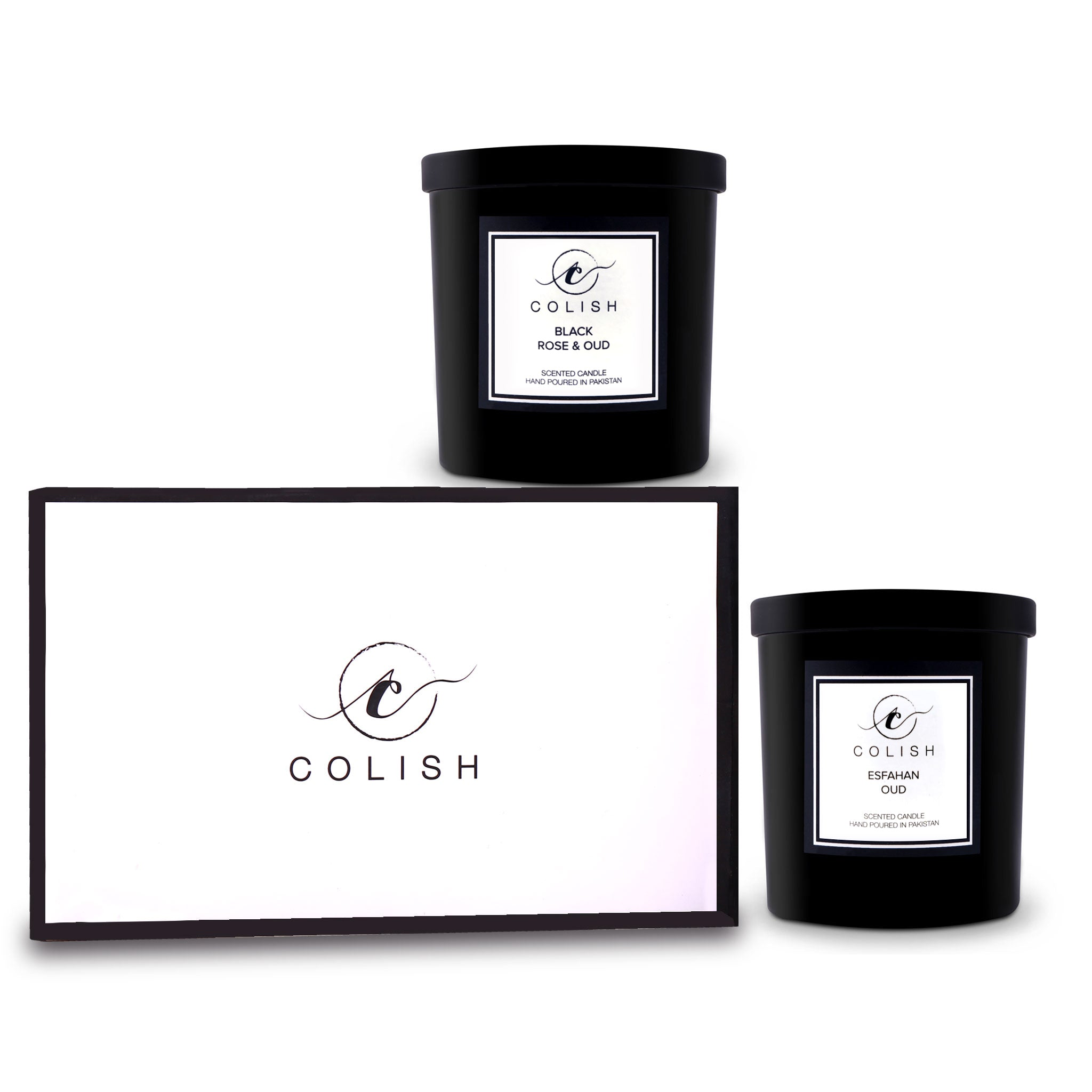 MINI DUO SCENTED CANDLES - SET OF BLACKROSE & OUD & ESFAHAN OUD