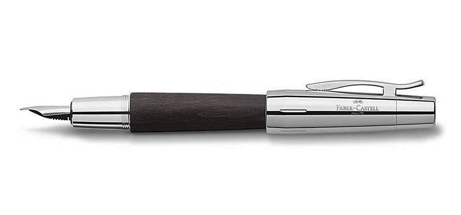 Faber Castell Design E-motion FP Fountain Pen Pearwood Black