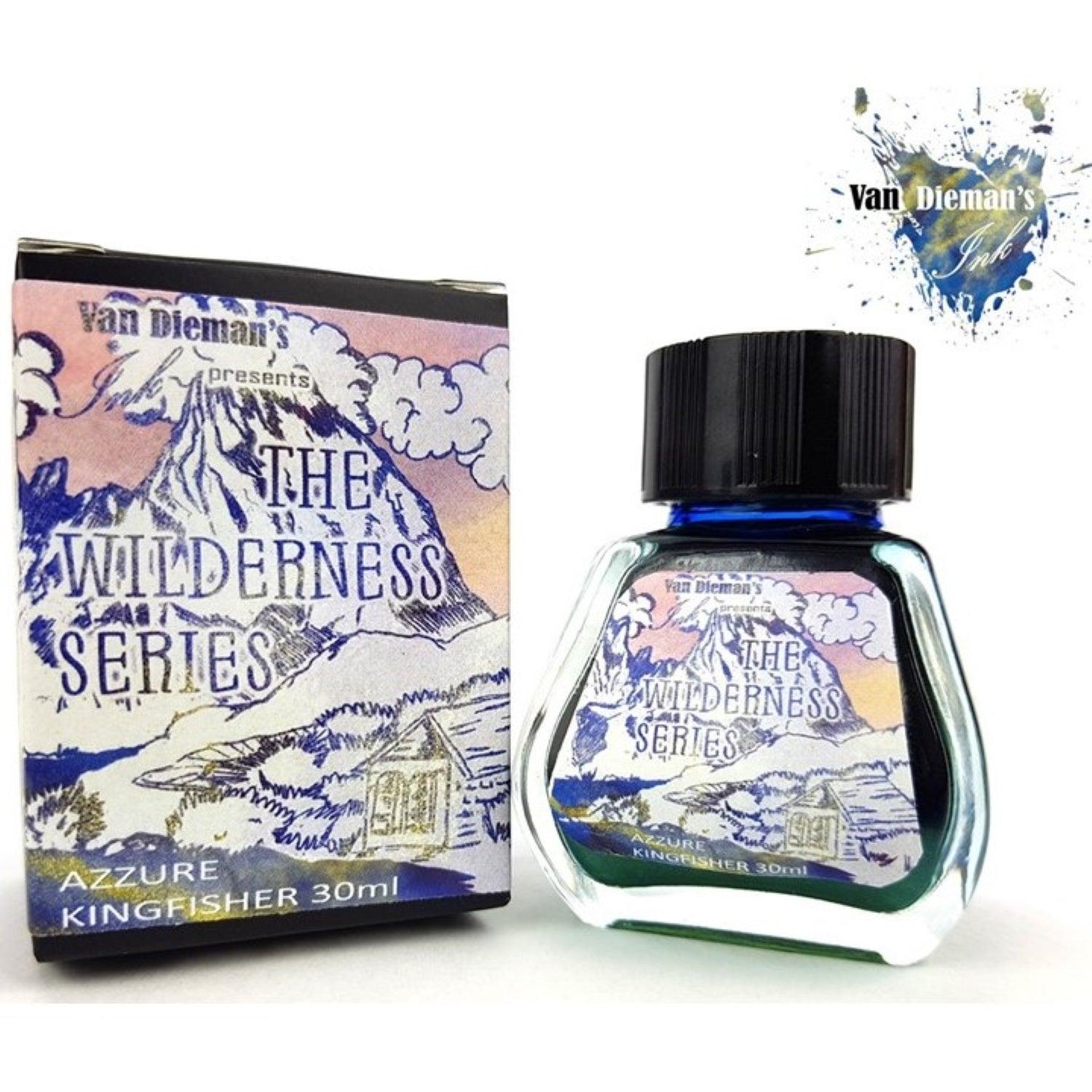 Van Diemans The Wilderness Series Azure Kingfisher Shimmer Ink 30ml