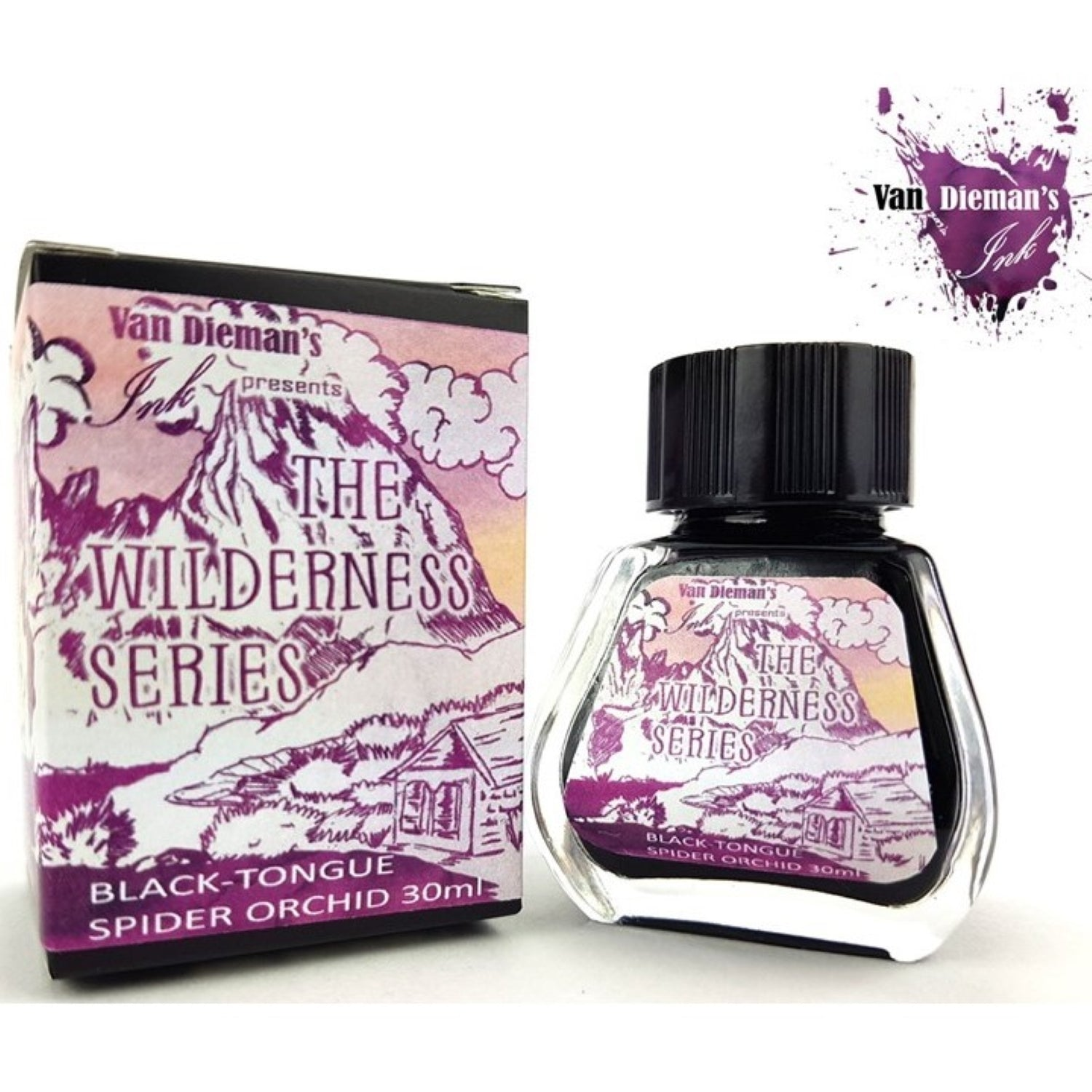 Van Diemans The Wilderness Series Black-Tongue Spider Orchid Ink 30ml