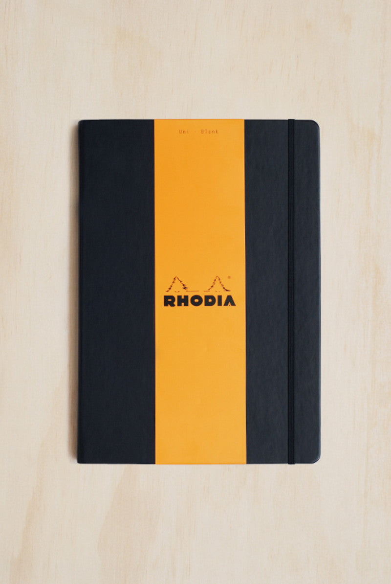 RHODIA WEBBY webnotebook Black Cover A4 210x290mm PLAIN
