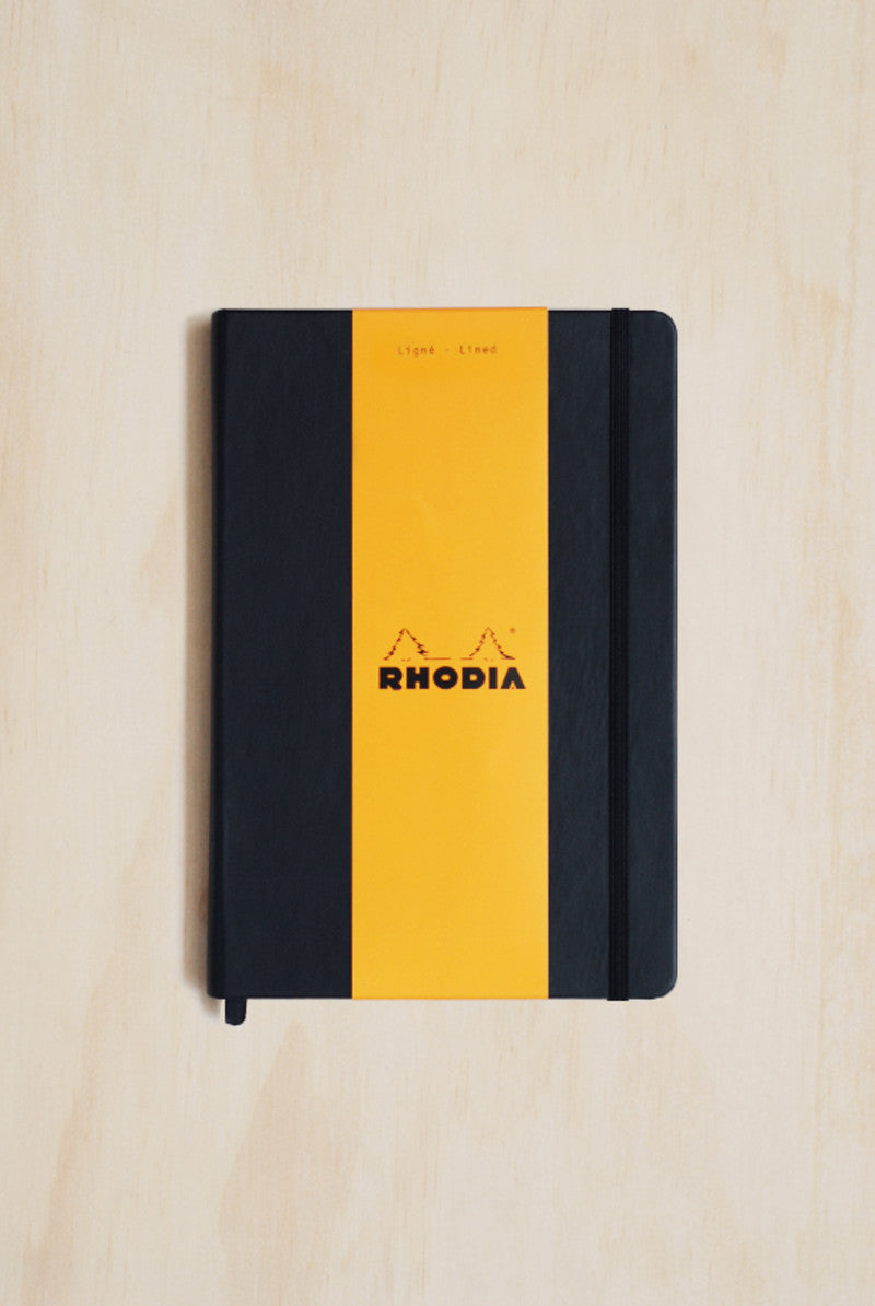 RHODIA WEBBY webnotebook Black Cover A5 140x210mm LINED