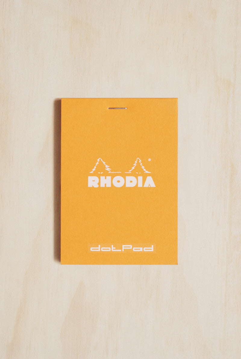 RHODIA Pad 12 STAPLED PAD Orange Cover 85x120mm DOTS