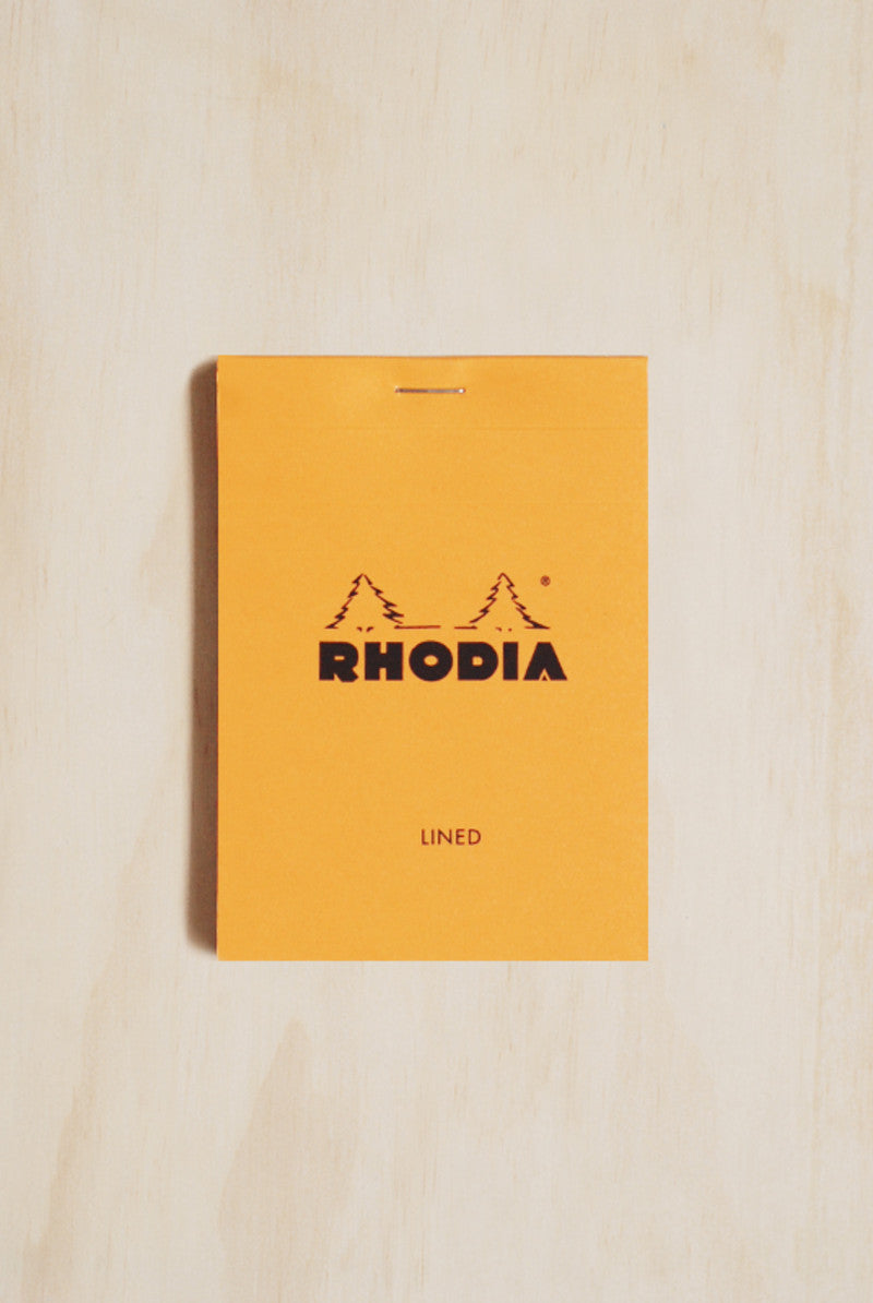 RHODIA Pad 12 STAPLED PAD Orange Cover 85x120mm LINED