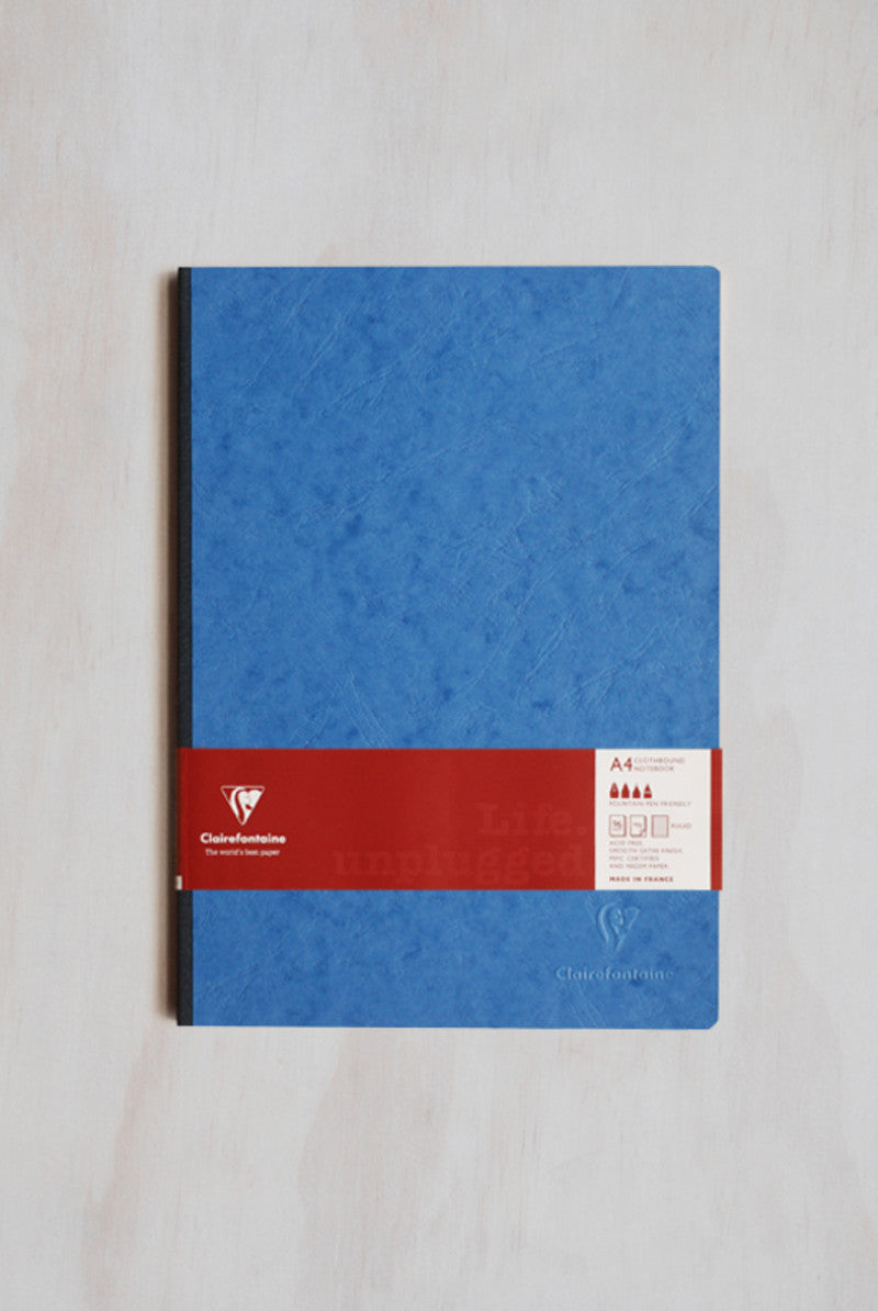 Clairefontaine A4 Life Unplugged Clothbound Lined Blue