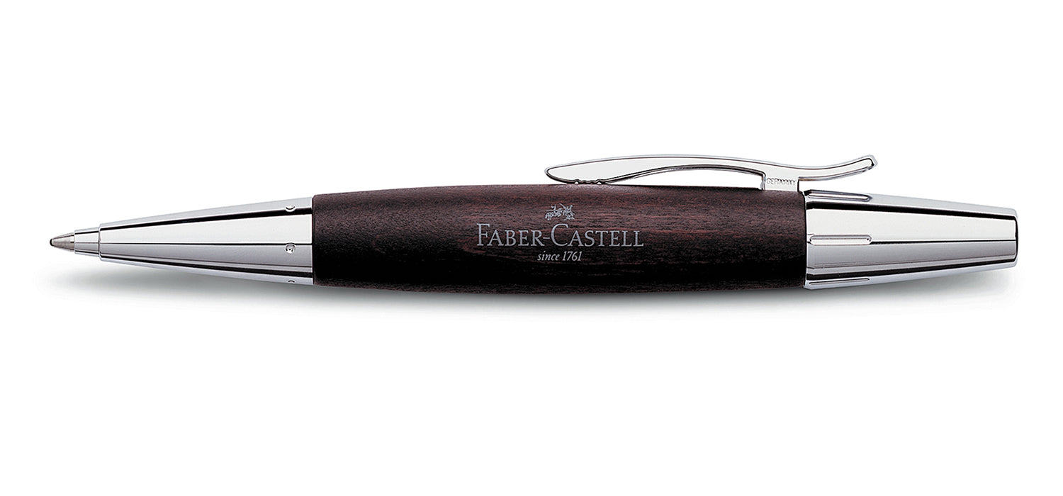 Faber Castell Design E-motion Twist BP Ball Pen Pearwood Dark Brown