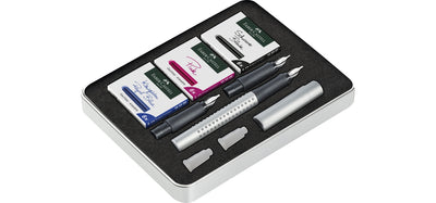 Faber Castell Design Grip 2011 Silver Calligraphy Set