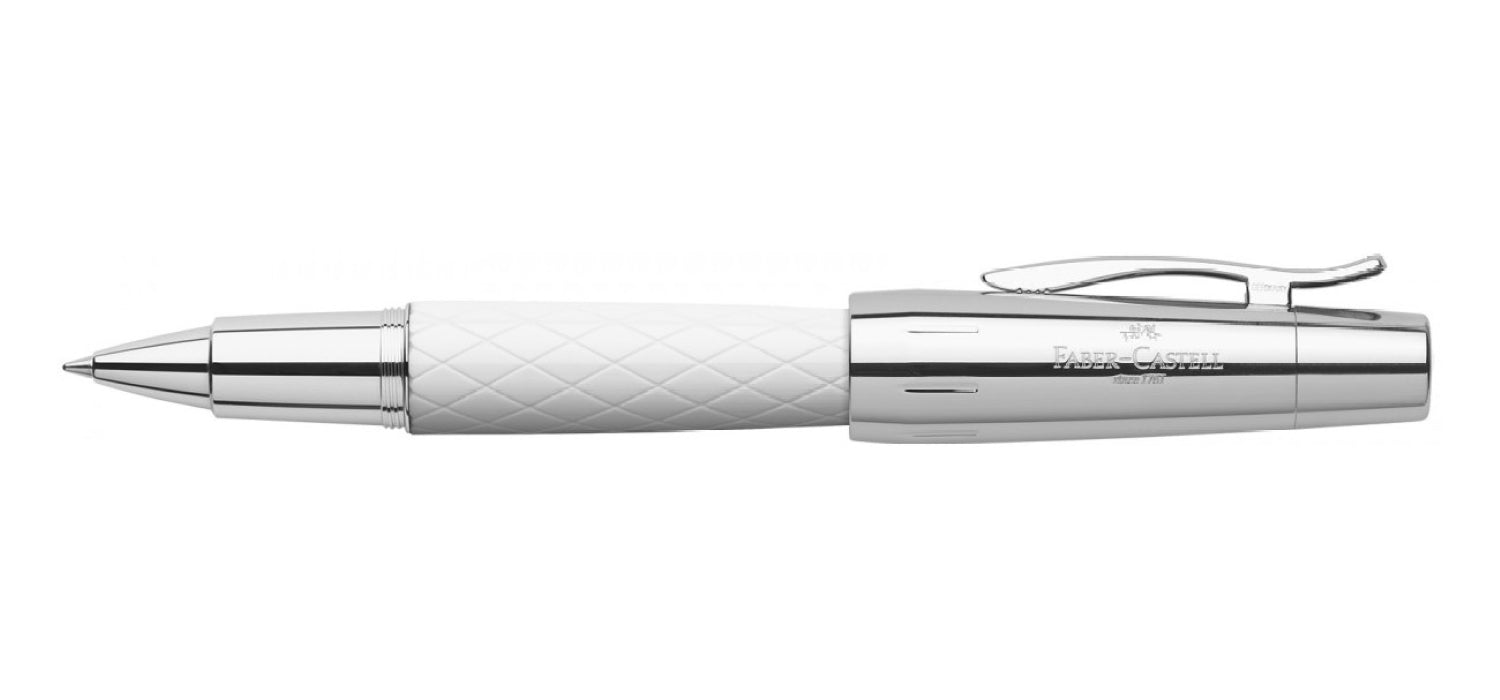 Faber Castell Design E-motion RB Rolling Ball White Precious Resin Rhombus
