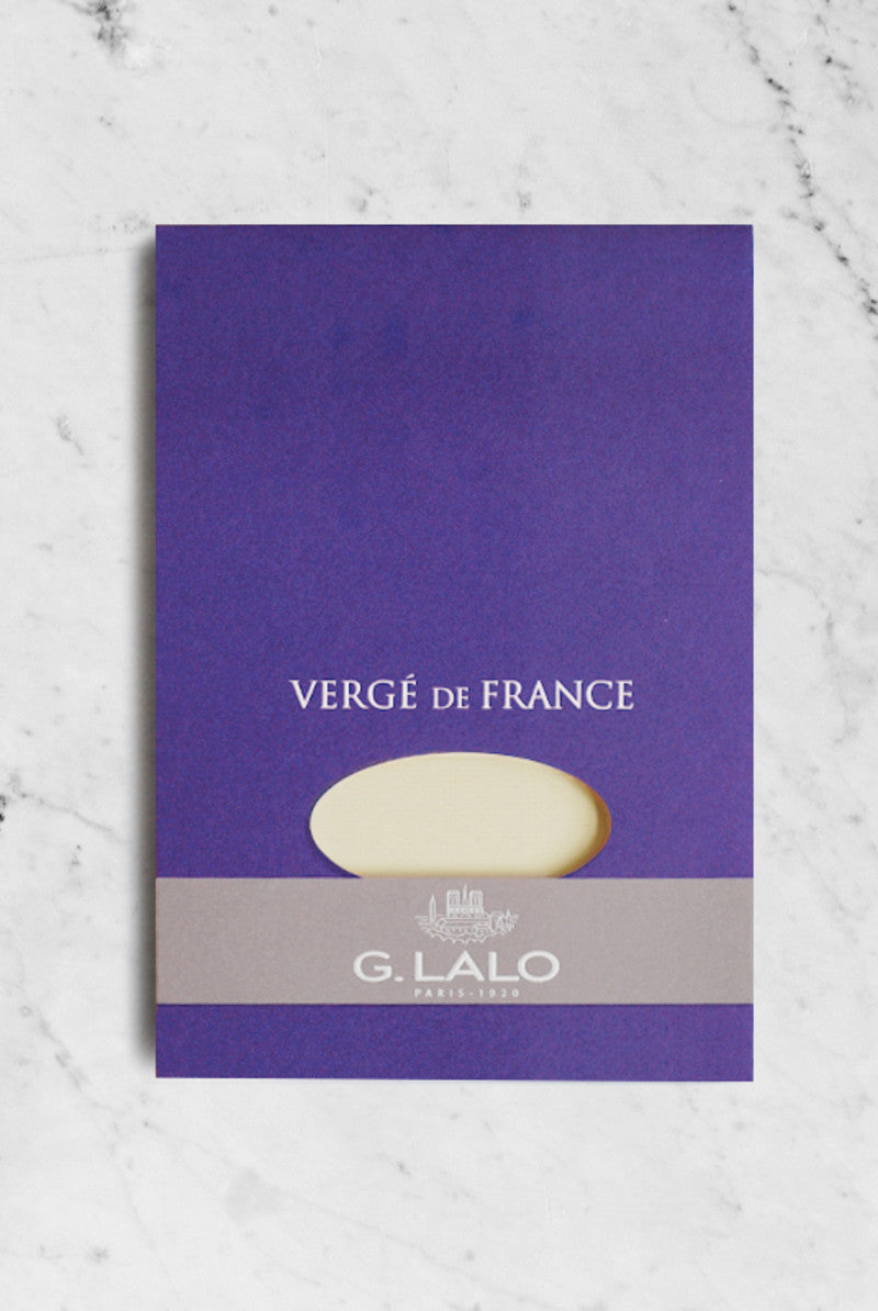 G. LALO Verge A5 pad 50 sheets 25% cotton laid finish Champagne