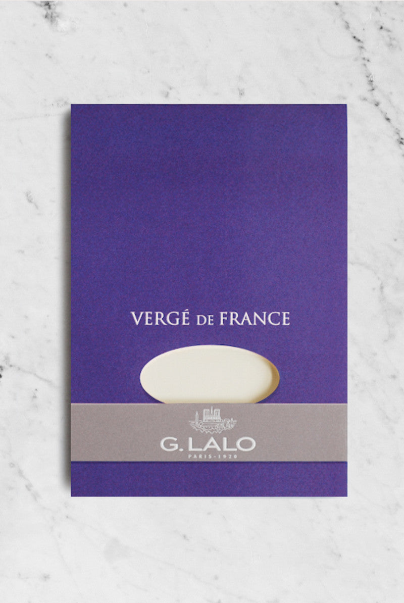 G. LALO Verge A5 pad 50 sheets 25% cotton laid finish Ivory