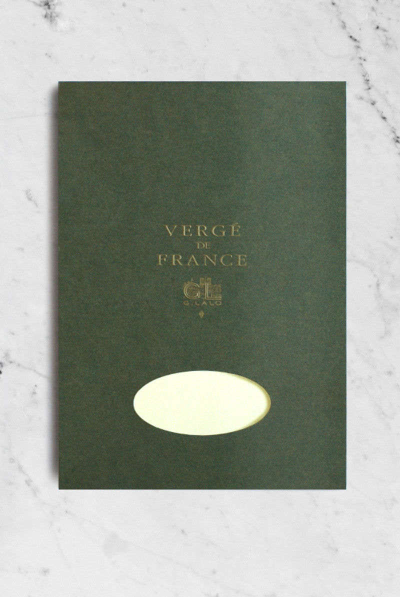 G. LALO Verge A4 pad 50 sheets 25% cotton laid finish Champagne