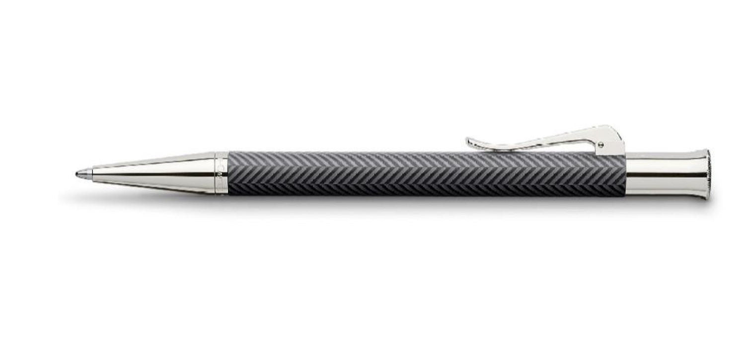 Graf Von Faber Guilloche Anthracite BP Ball Pen Pen GVFC
