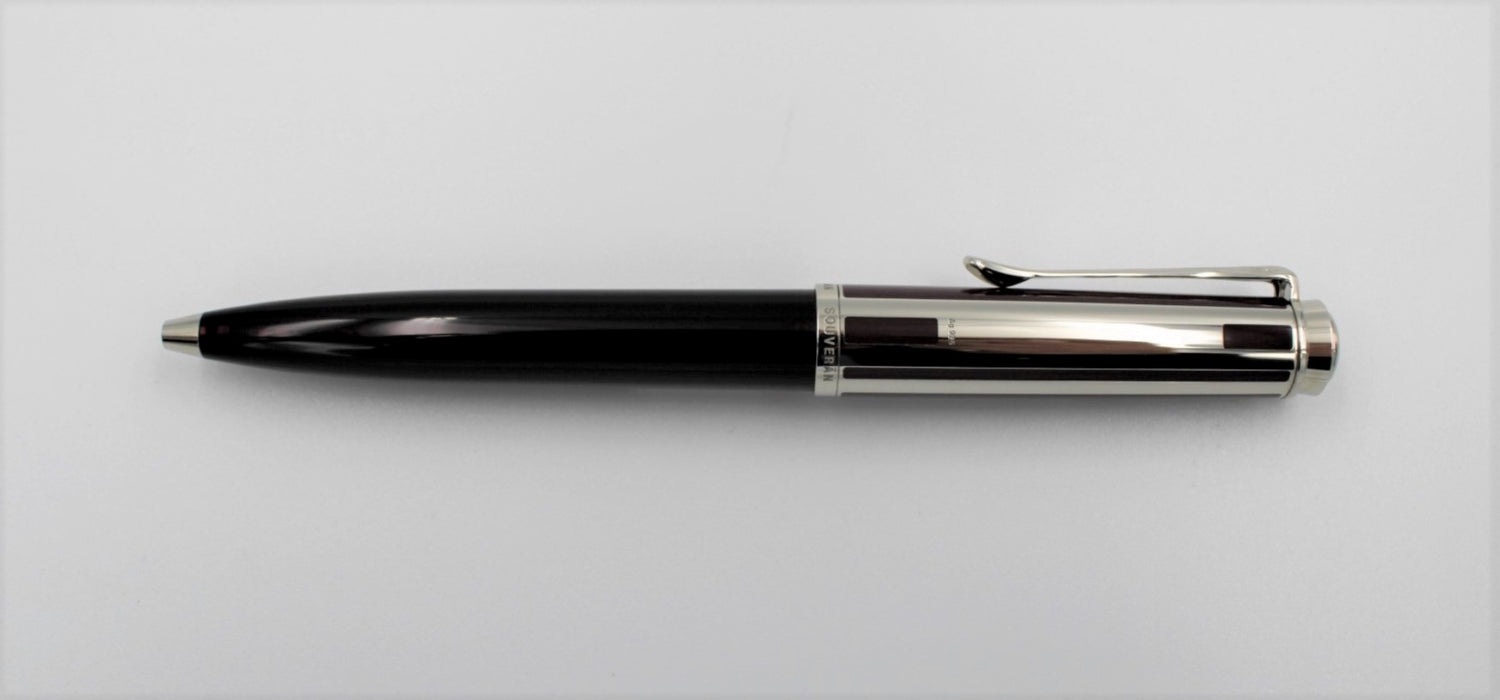 Pelikan K 625 Souveran Aubergine Ballpoint with Sterling Silver trim BP