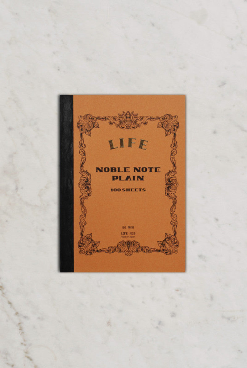 Life Stationery Japanese Paper Noble Note Notebook B6 13x18cm Plain Kraft
