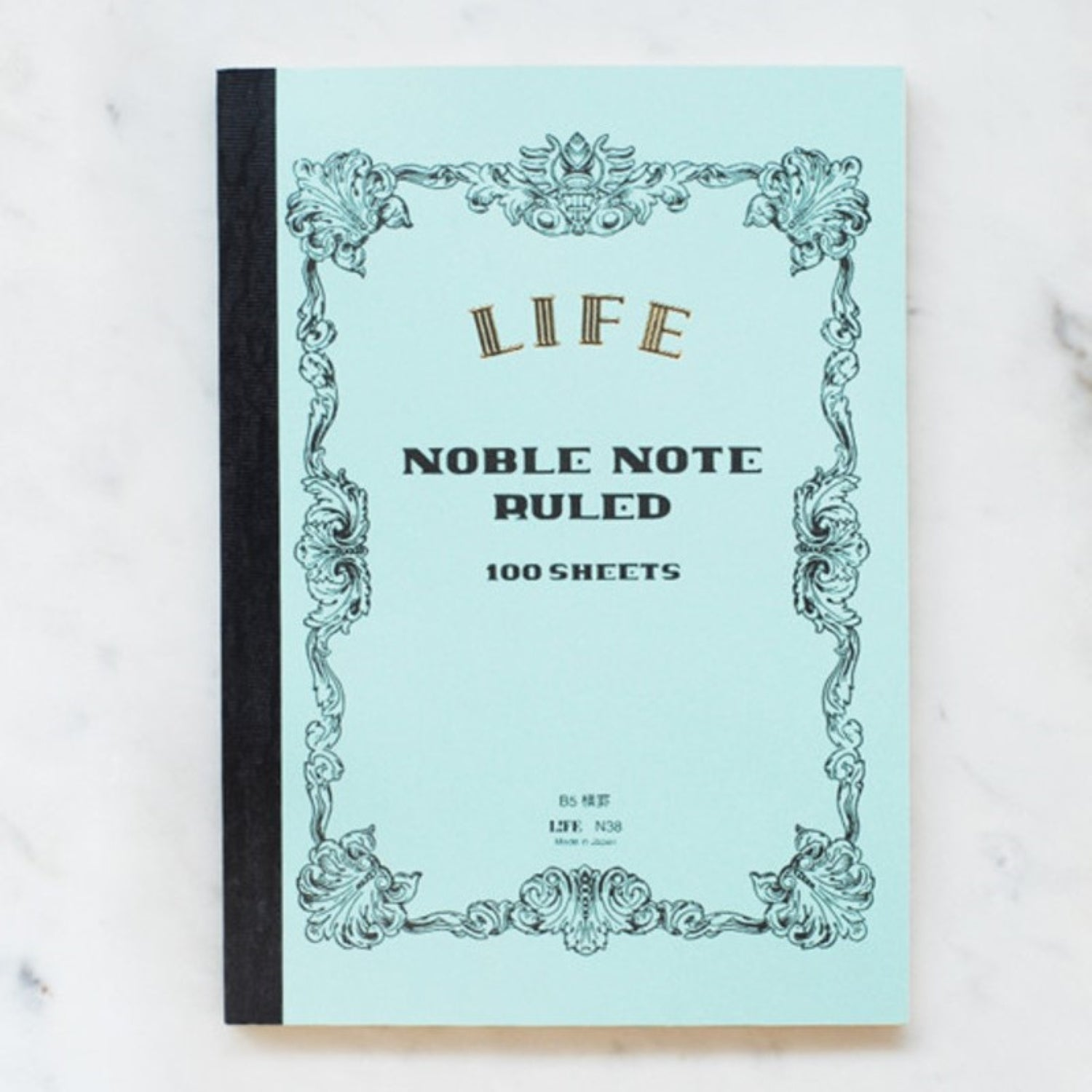 Life Stationery Japanese Paper Noble Note Notebook B5 18x25cm Ruled Light Blue