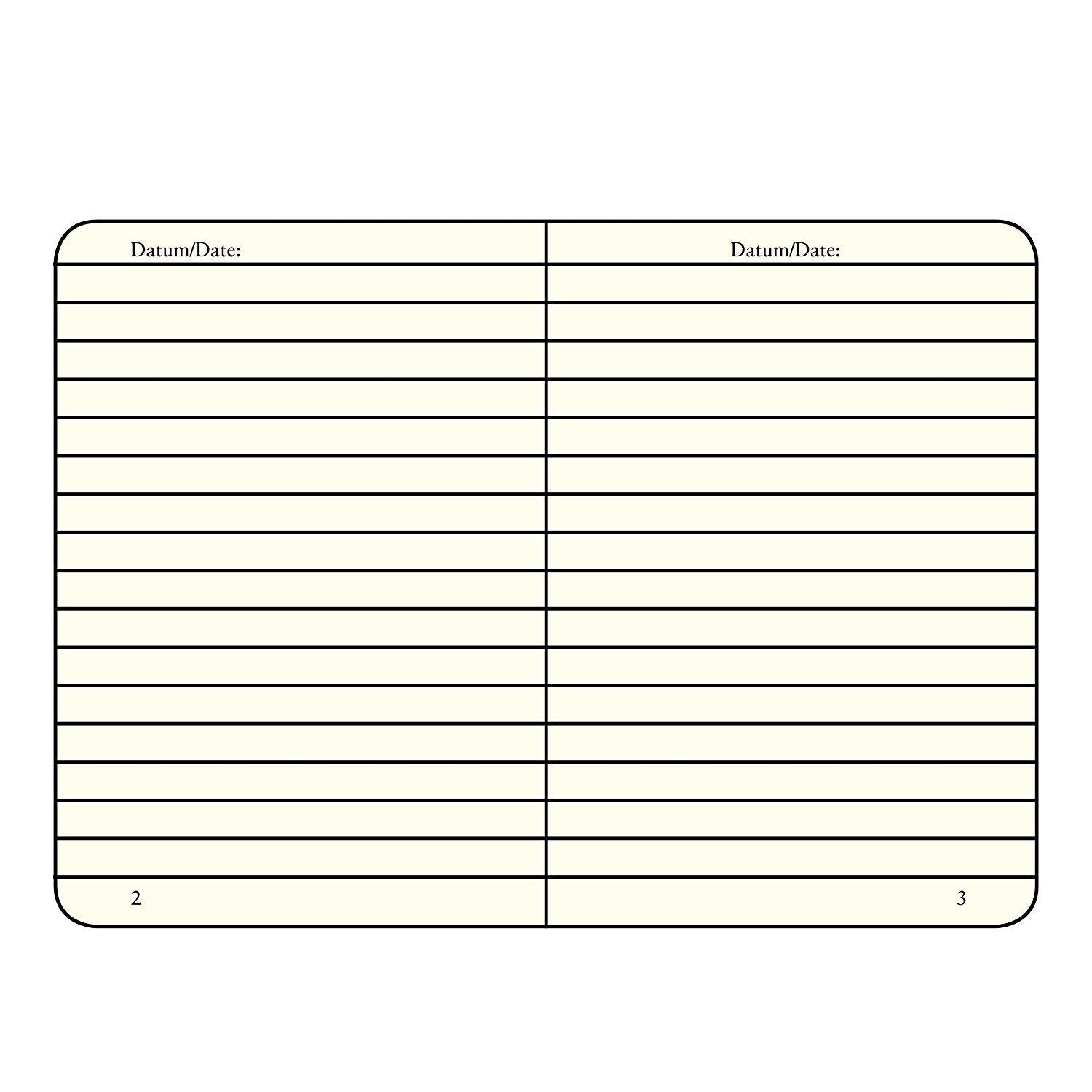 Leuchtturm Notebook Hardcover 145 X 210mm Lined / Ruled