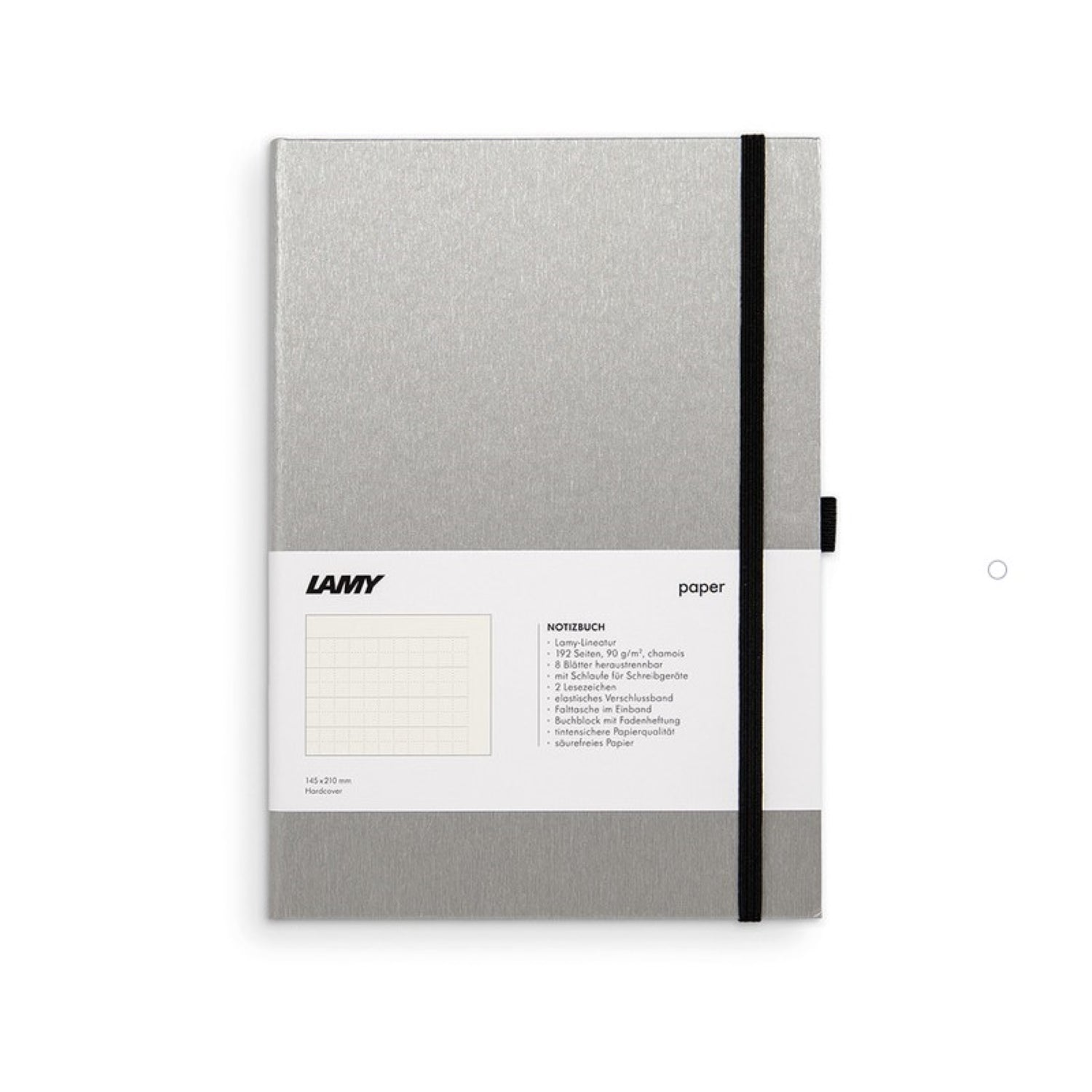 LAMY HARD COVER NOTEBOOK RULED A5 BLACK