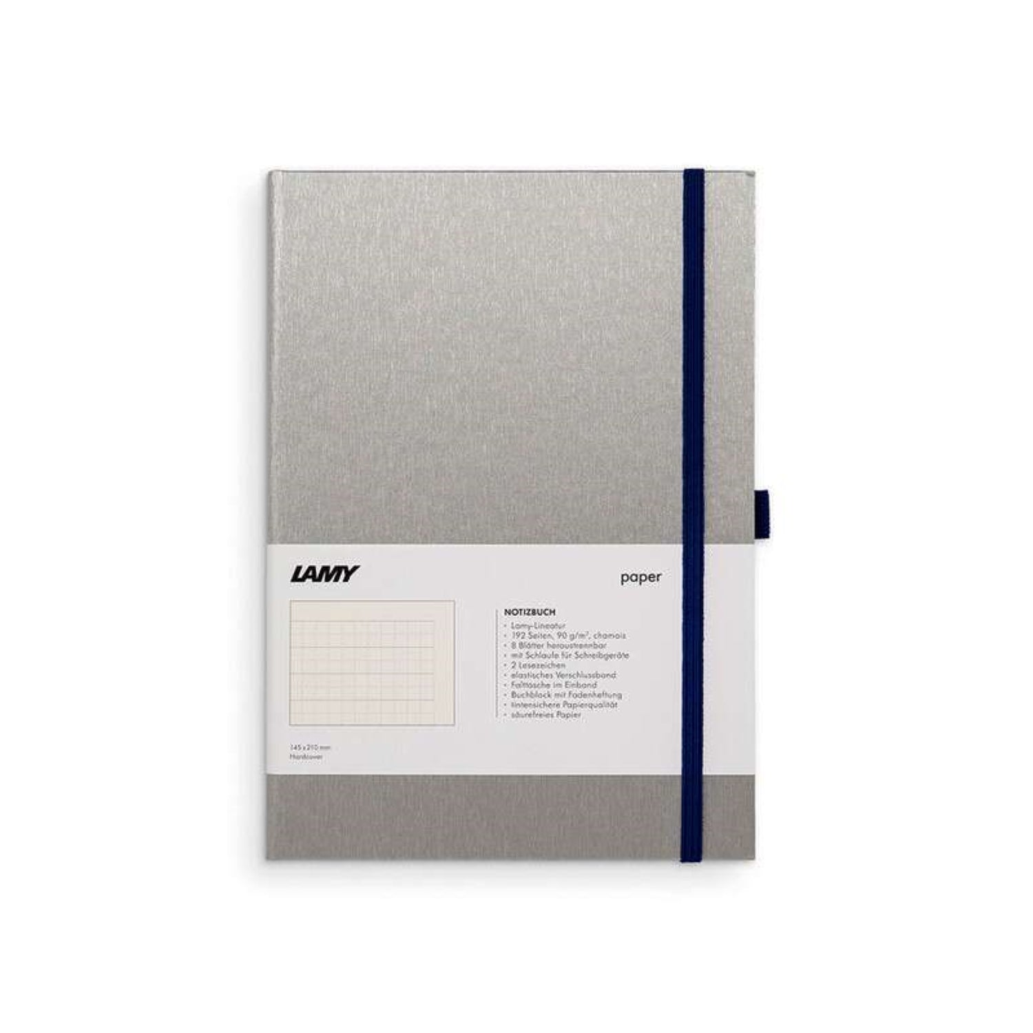 LAMY HARD COVER NOTEBOOK RULED A5 OCEAN BLUE