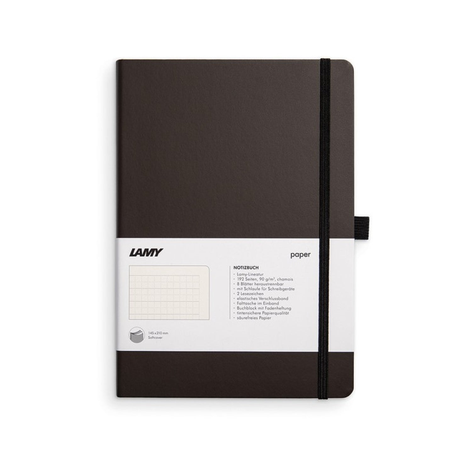 LAMY SOFT COVER NOTEBOOK RULED A5 CHARCOAL