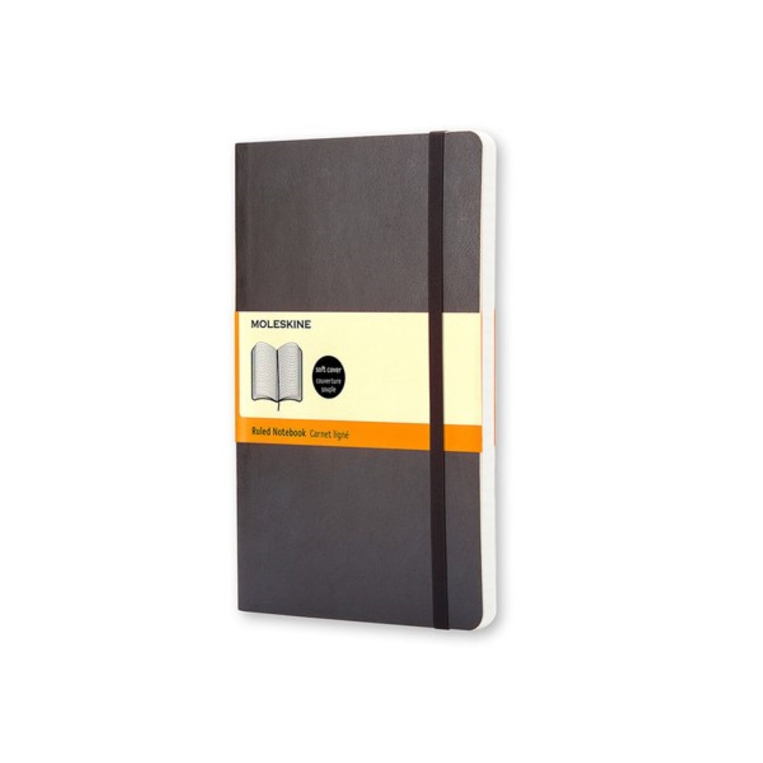 Moleskine Classic Soft Cover Notebook Pocket RULED Black