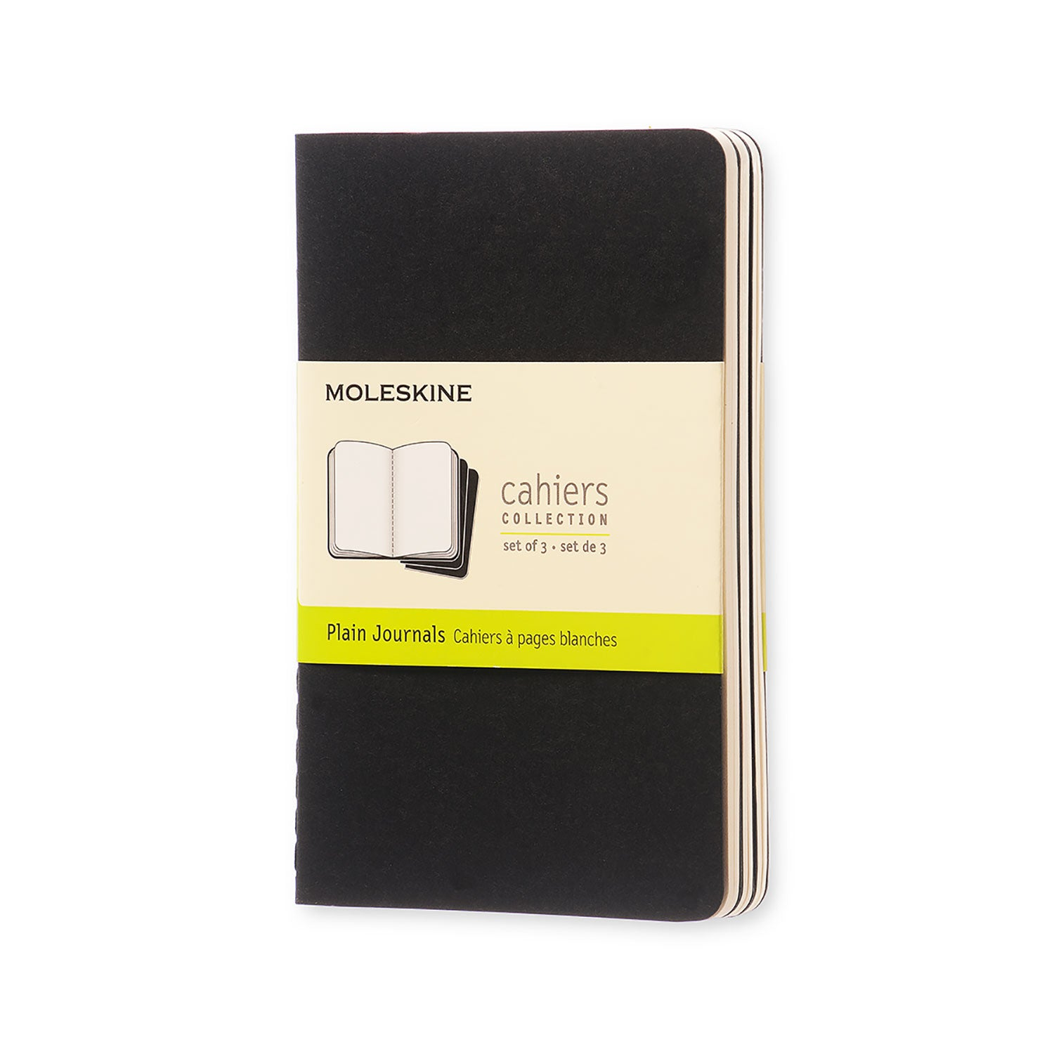 Moleskine Cahier Set of 3 Pocket PLAIN Black