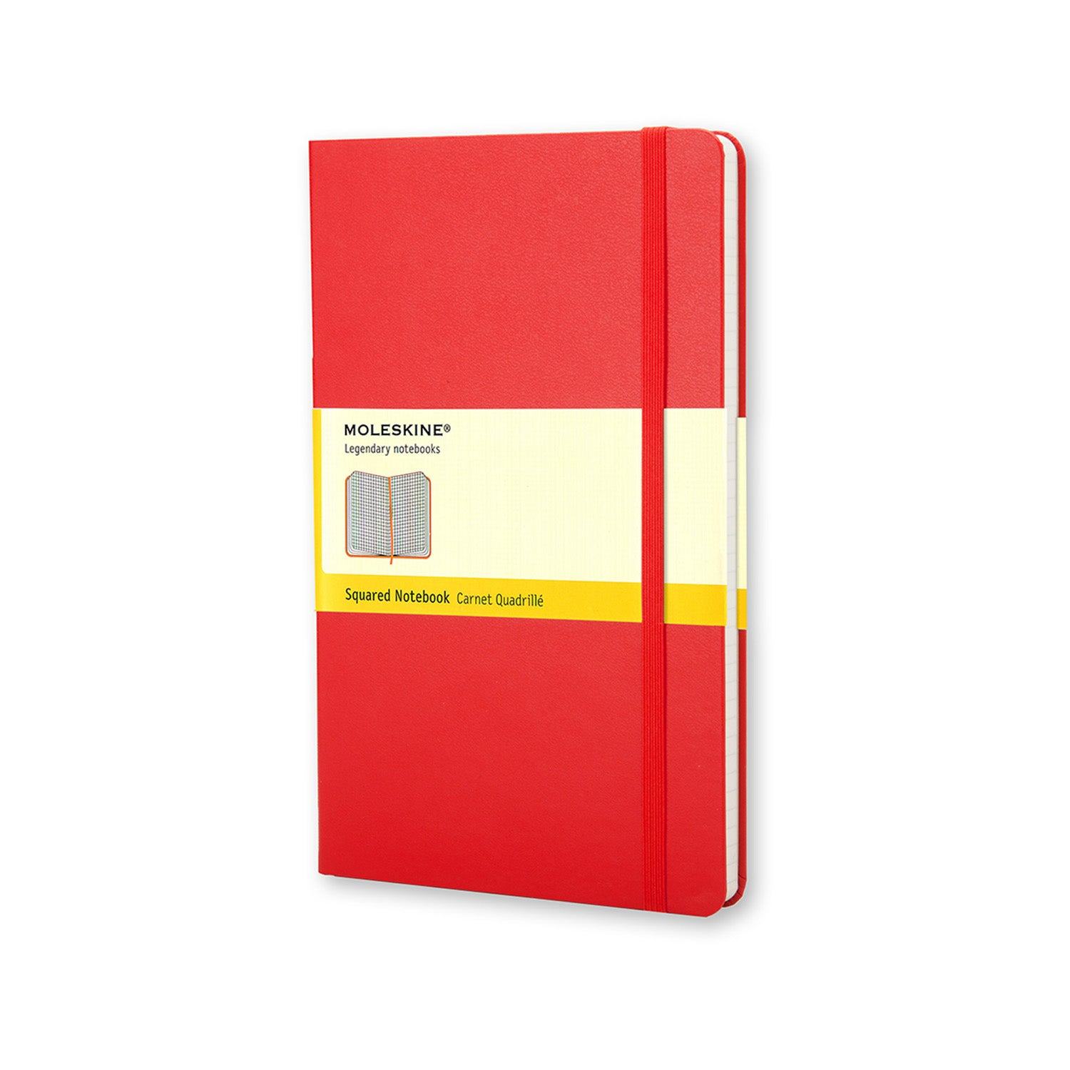 Moleskine Classic Hard Cover Notebook Pocket SQUARED Red