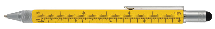 Monteverde TOOL PEN BP STYLUS Multi ruler level Yellow