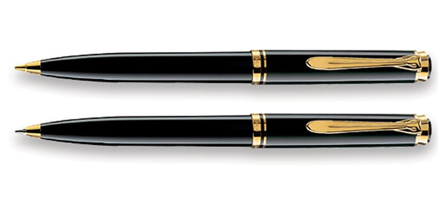 Pelikan K 800 Souveran Black BP & MP set with gold