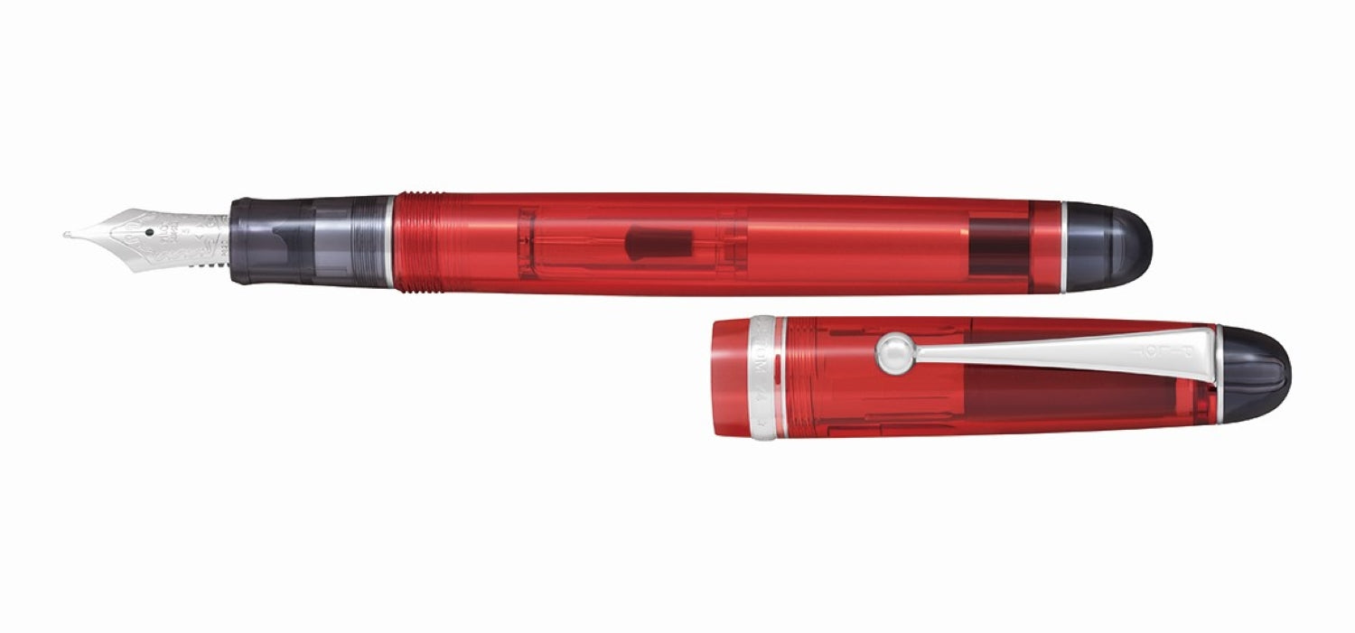 Pilot Custom 74 Clear Red Fountain Pen